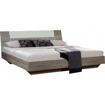 Lit Moderne Coloris Chêne Gris Et Blanc X Cm - Lit 160x200 chene gris