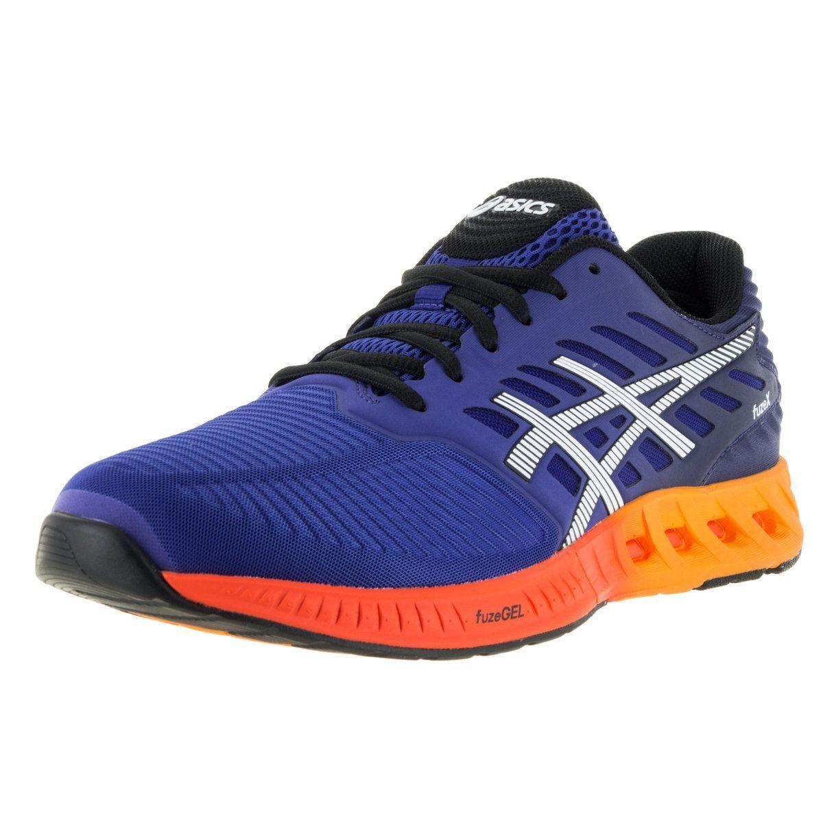 Asics Women's 'FuzeX', Indigo, and Hot Orange Running Shoes
