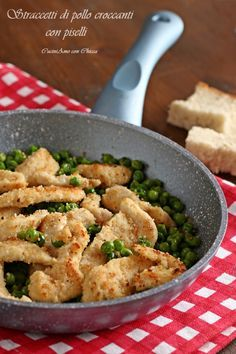 Photo of Crunchy chicken strips with peas