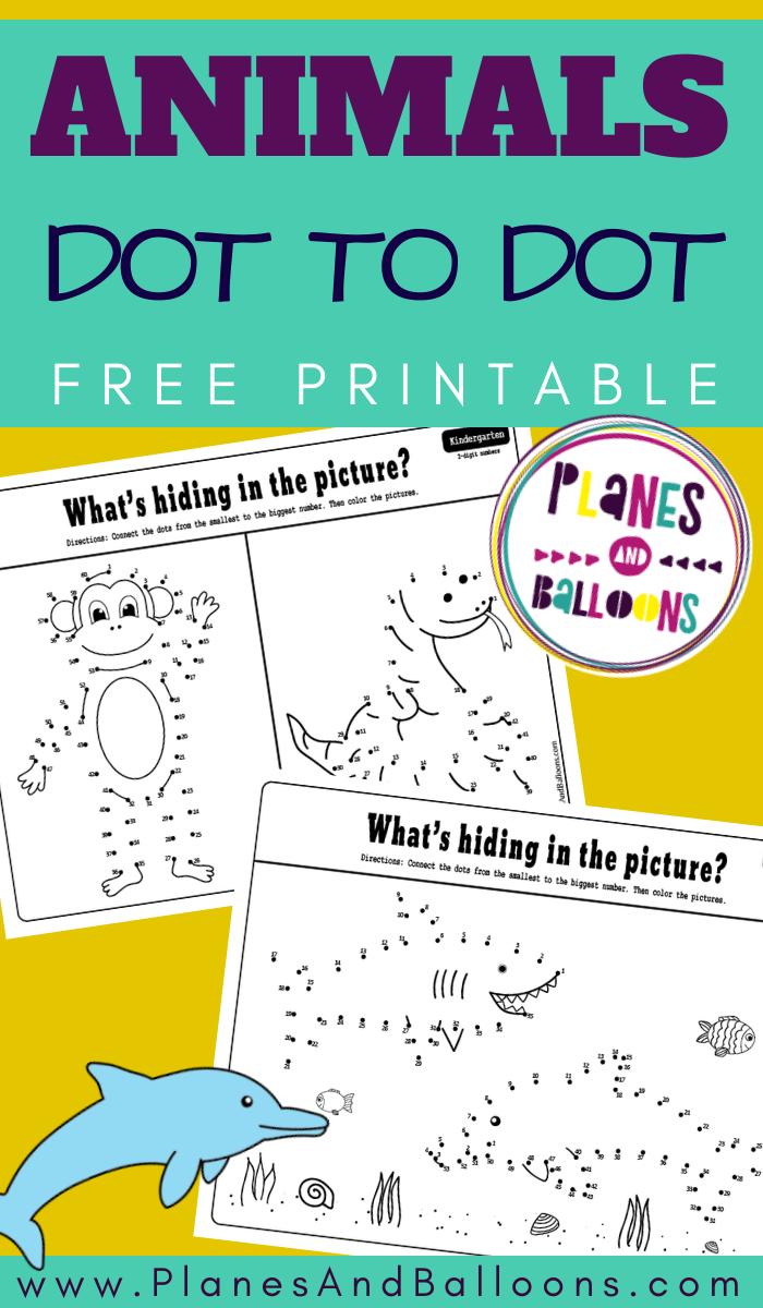 Animals Connect The Dots Activity Animal Activities For Kids Free Preschool Preschool Activities [ 1200 x 700 Pixel ]