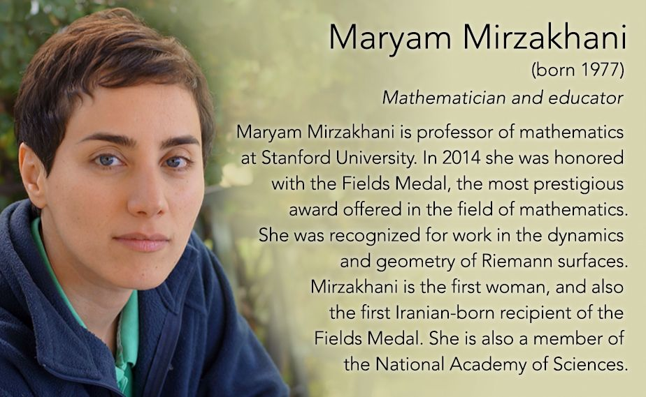 Maryam Mirzakhani(born 1977) Mathematician and educator Maryam ...