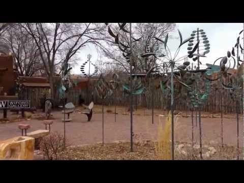 Water Wind and Garden art! - YouTube