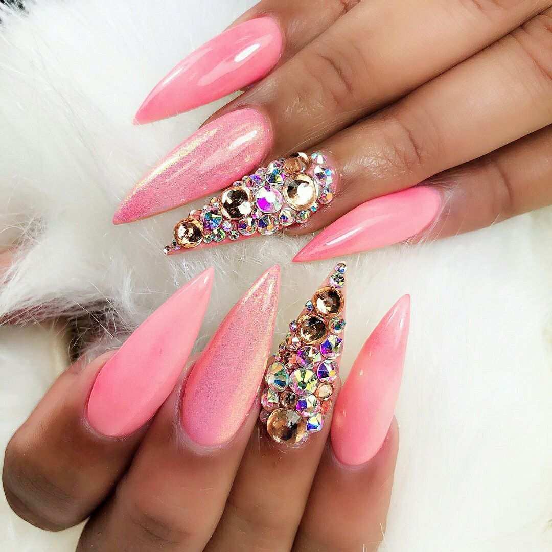 Stiletto Nails Shape Acrylicnailsalmond In 2020 Different Nail Shapes Acrylic Nails Stiletto Types Of Nails Shapes
