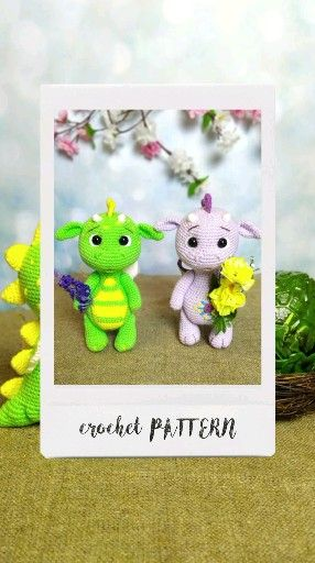 Crochet Dragon PATTERN. Little Dragon baby Amigurumi toys. Amigurumi patterns