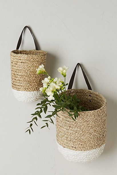 Braided Hanging Basket Baskets On Wall Hanging Wall Baskets Hanging Baskets