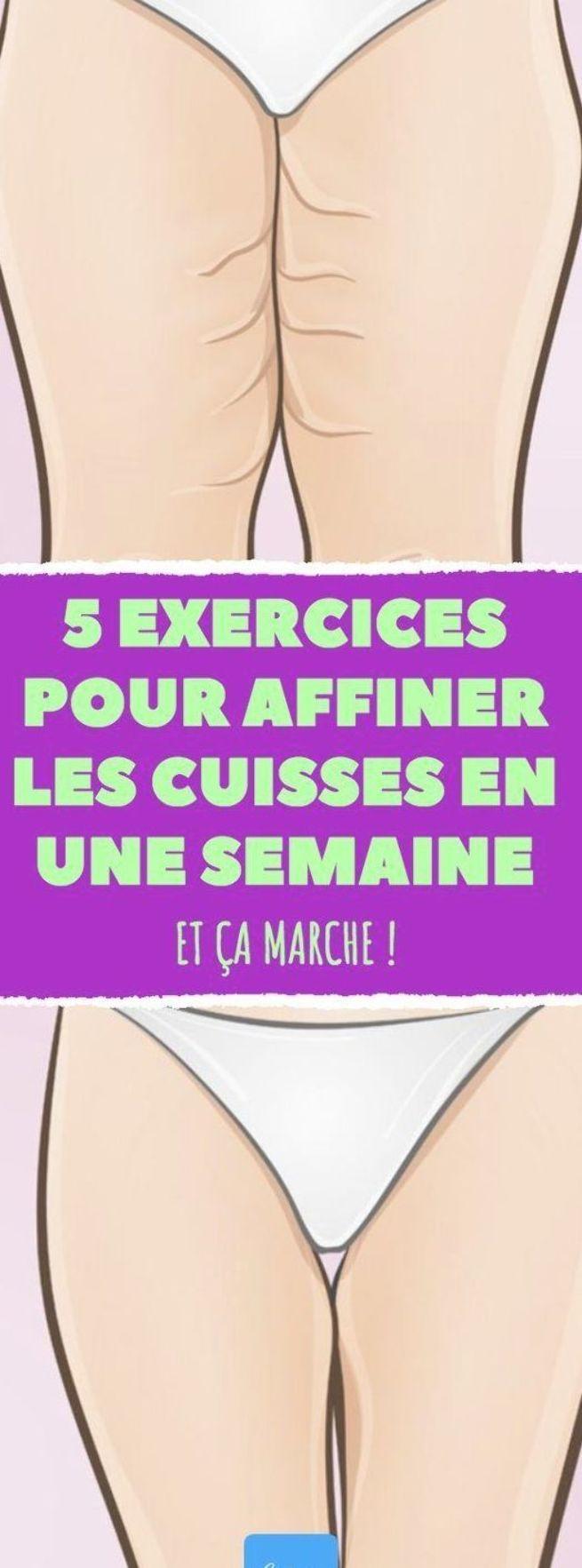 5 exercices pour affiner les cuisses en une semaine. Toute fines ! #JessicaSmith #sport #fit #fitnes...