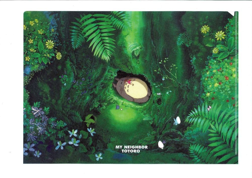 My Neighbor Totoro A4 Clear File Bed of Totoro Studio Ghibli From Japan