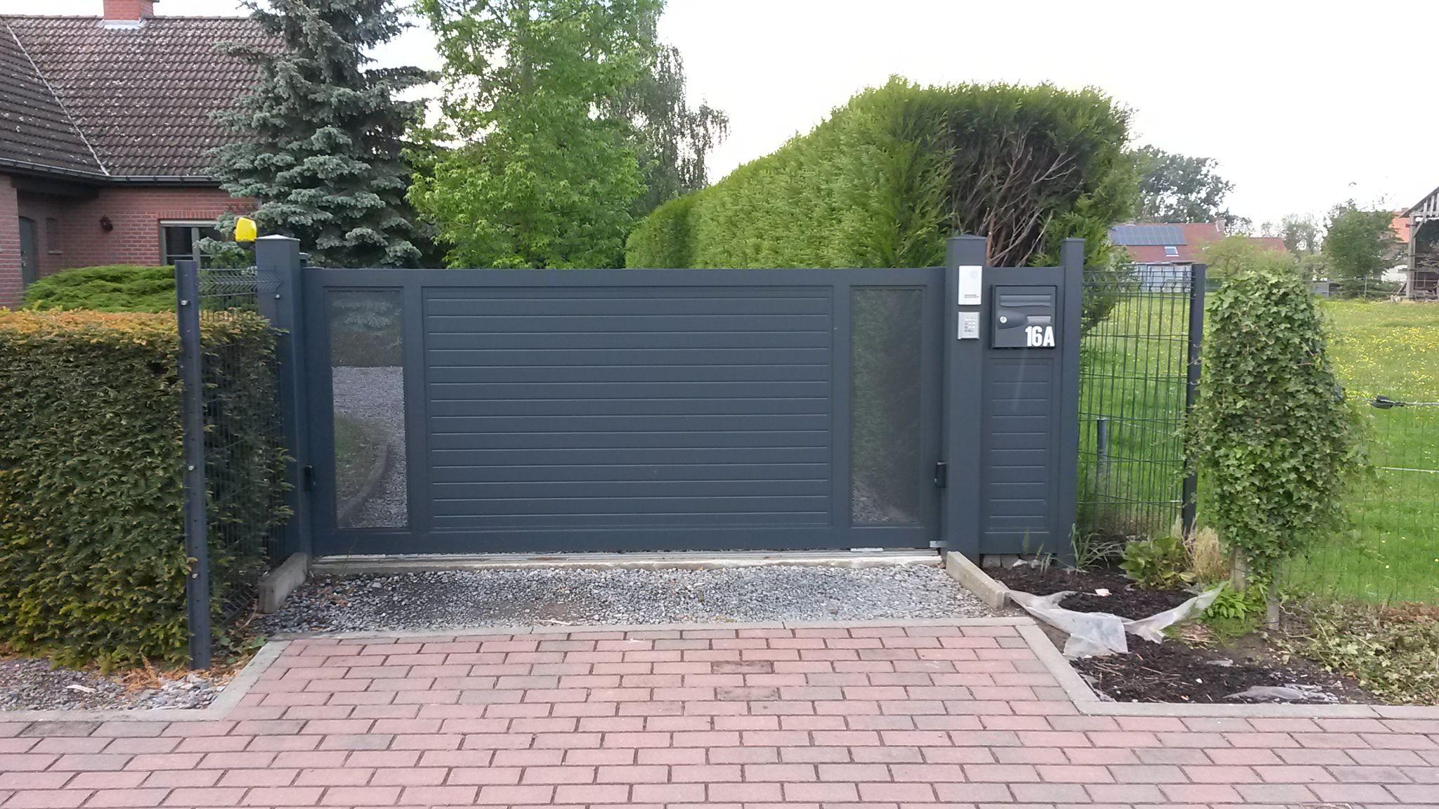 Portail Porte Coulissante Fabrication Aluminium Soudé