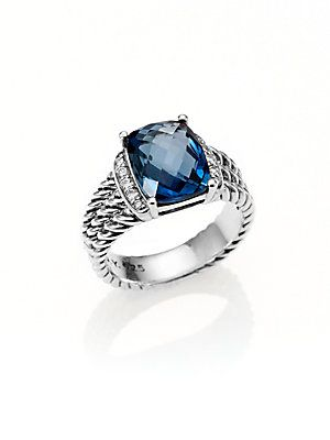David Yurman Hampton Blue Topaz Petite Wheaton Ring This Is What