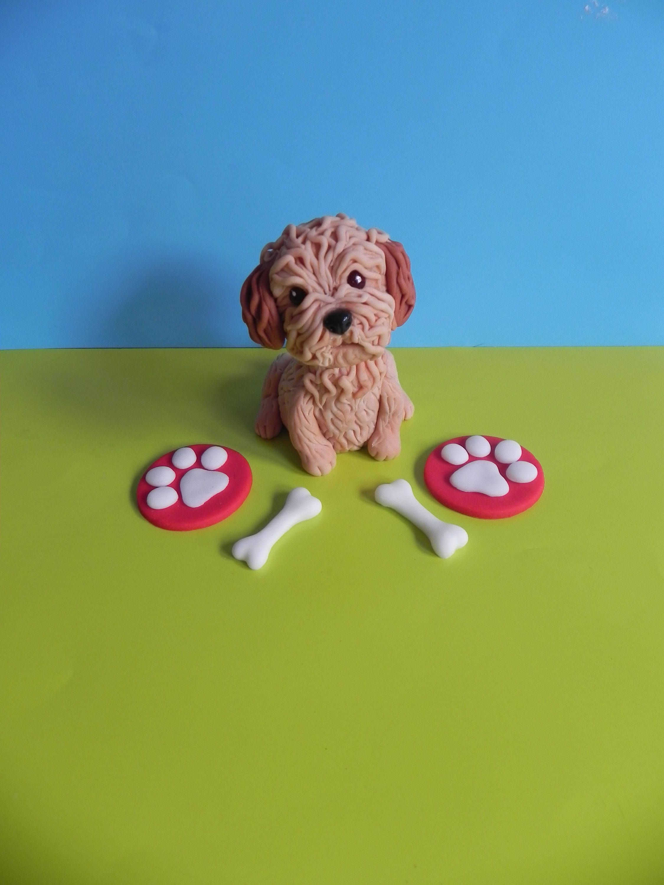 Cockapoo Edible Cake Topper By Caketoppersbymaris On Etsy Glue 60th Birthday Cakes Fondant