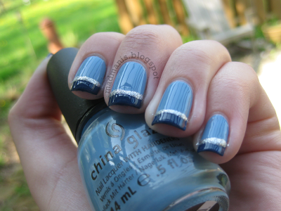 china glaze  electric beat  first mate  trendy nails
