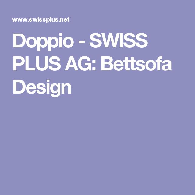 Doppio - SWISS PLUS AG: Bettsofa Design