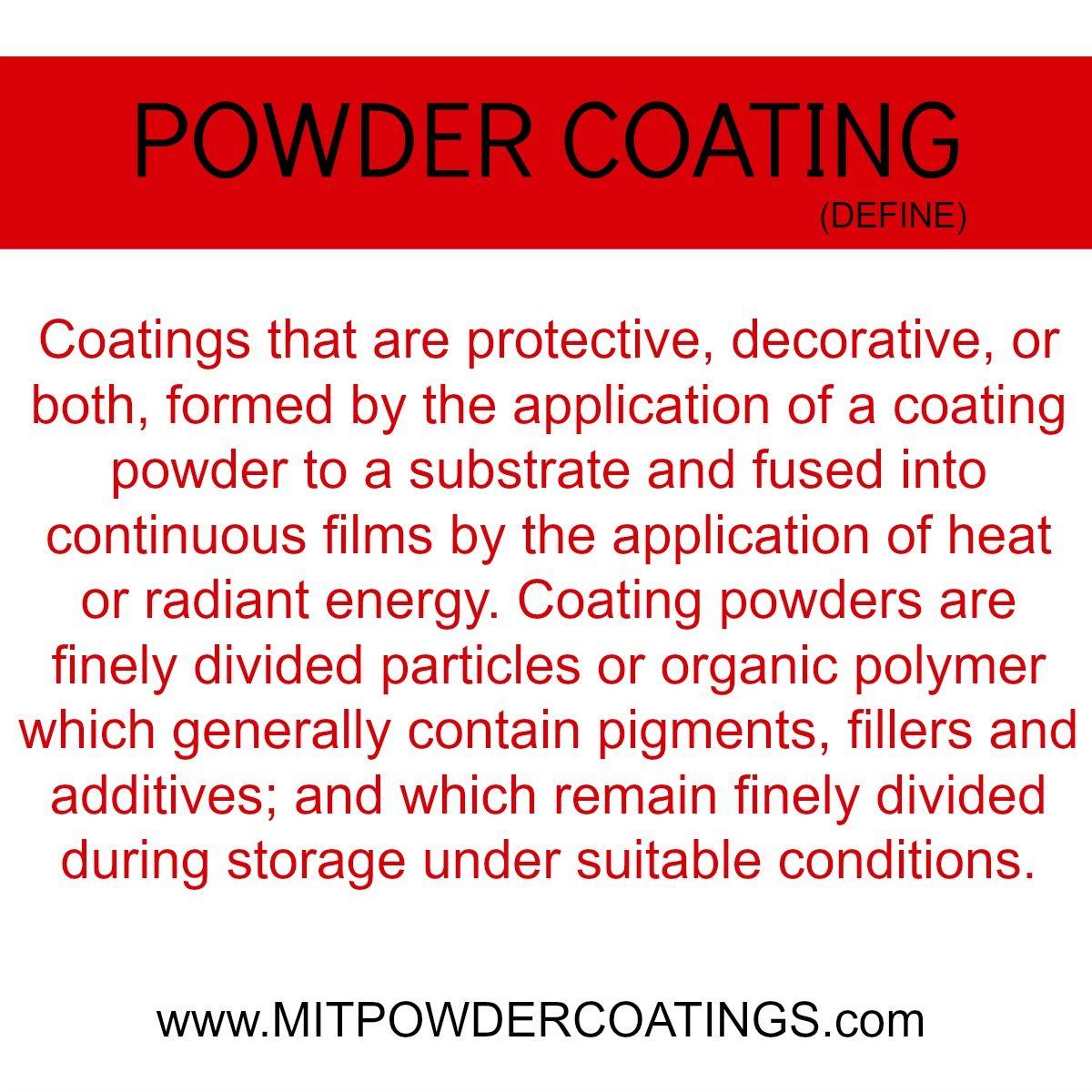 What is powder coating? Define  #powderpaint #MITPowder