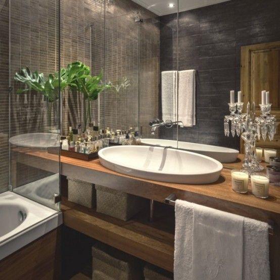 salle-bains-bois-exotique | Appart | Pinterest | Bois exotique ...