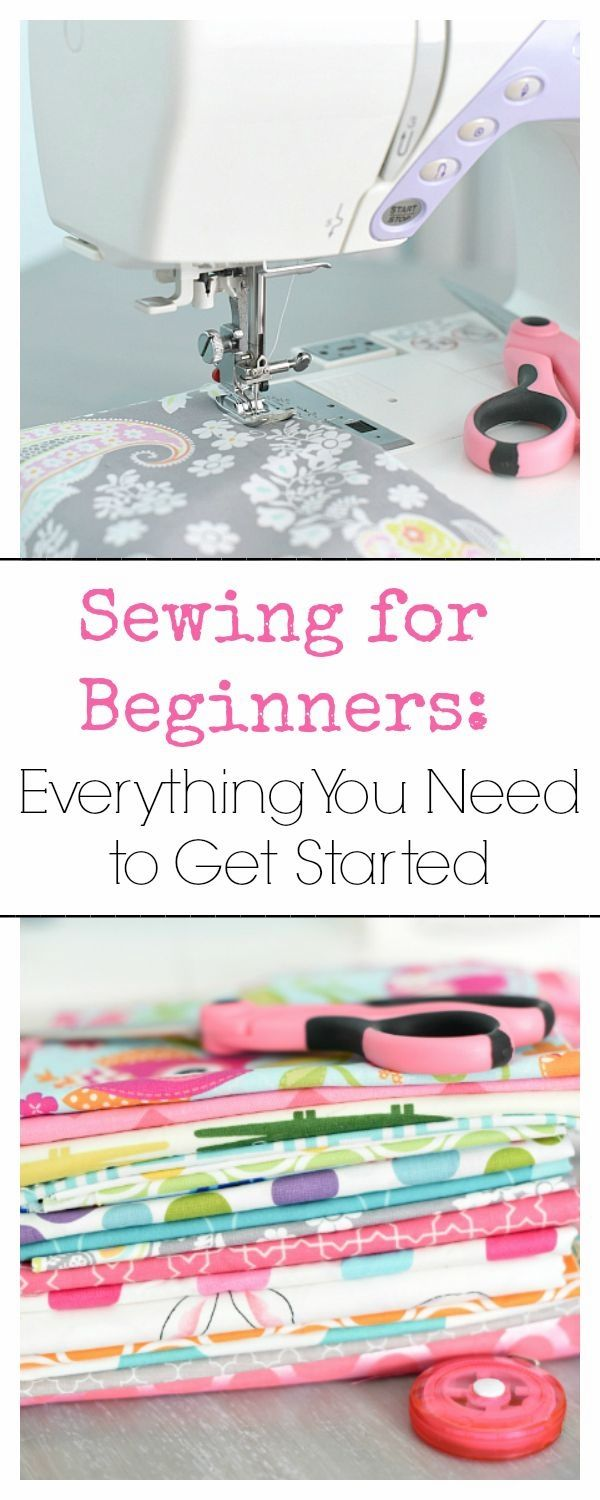 Are you trying to learn to sew and looking for lessons on sewing for beginners? Here's everything you need to know as you get started sewing-from what to buy to sewing projects for beginners, how to use a sewing machine, and more.
