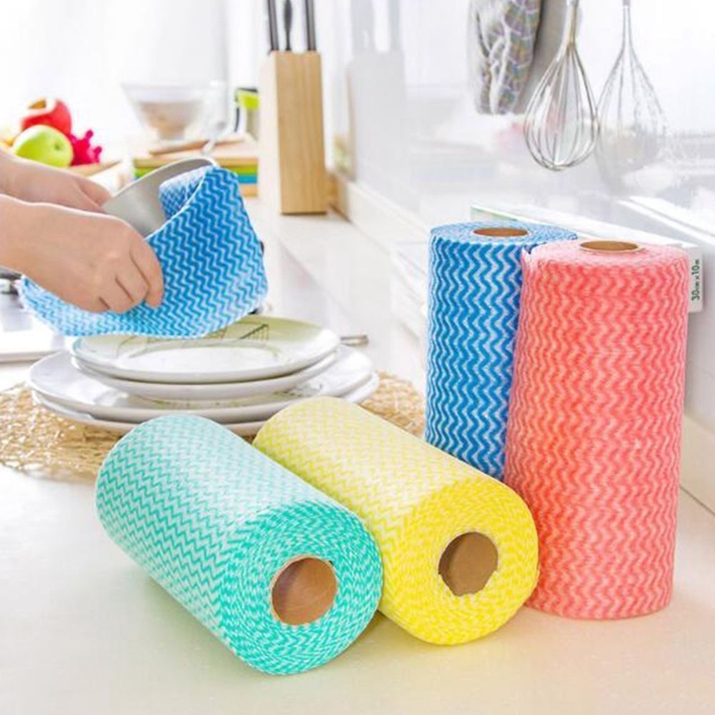 Kitchen Non-Woven Cleaning Wipes Cloth Disposable Bowl Washing ...