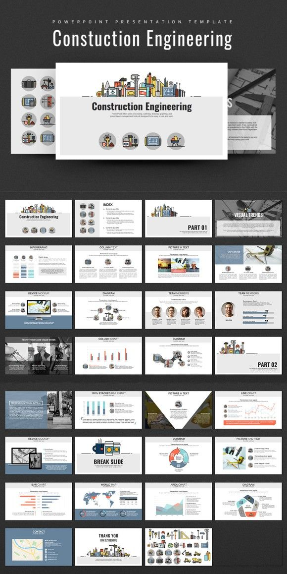 Construction Engineering Ppt Powerpoint Slide Designs