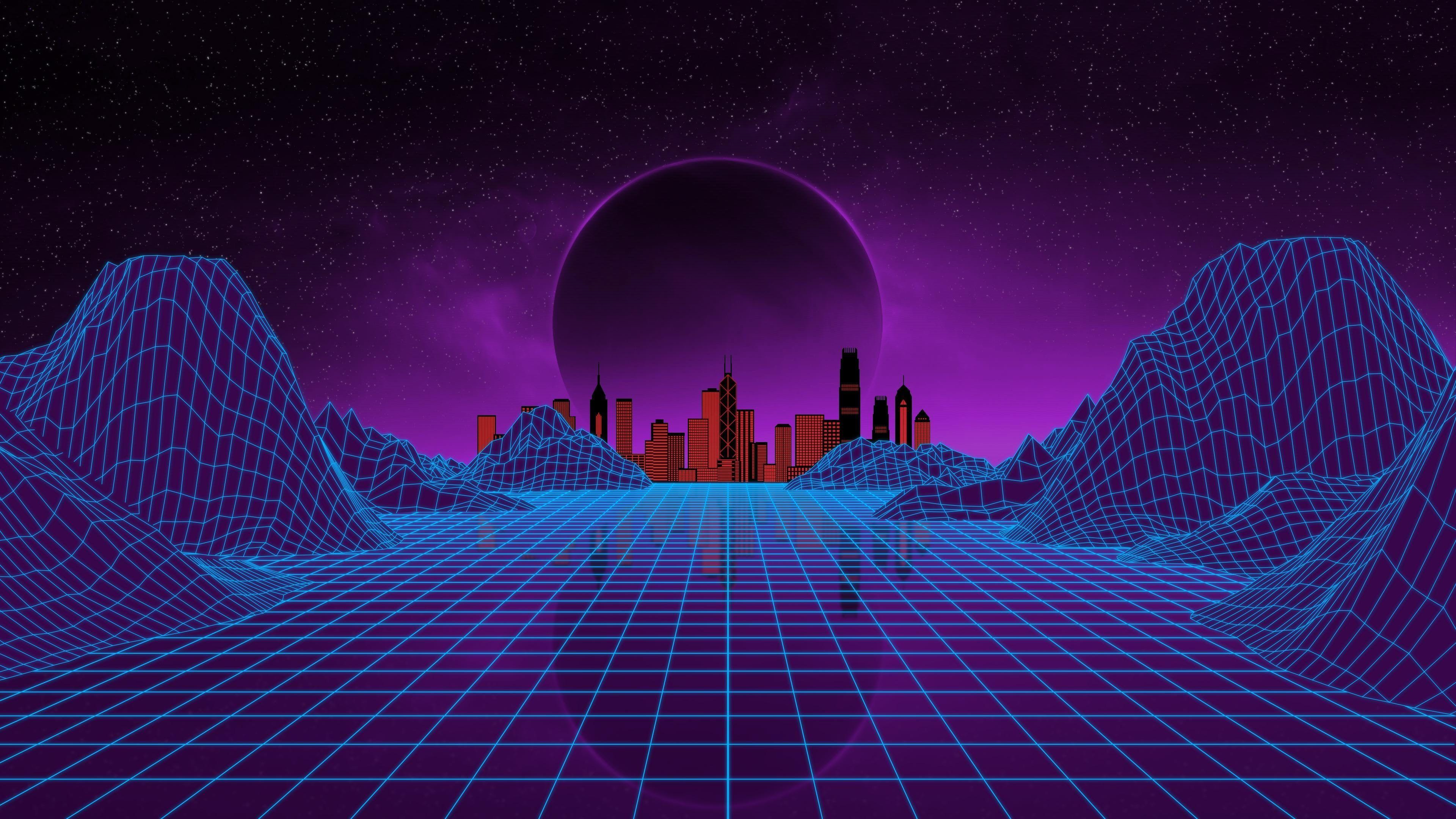 #purple #vaporwave #1980s #night virtual reality #space # ...