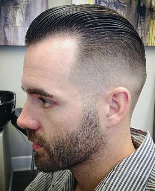 Slick Back Faded Mens Hairstyles Fade Receding Hair