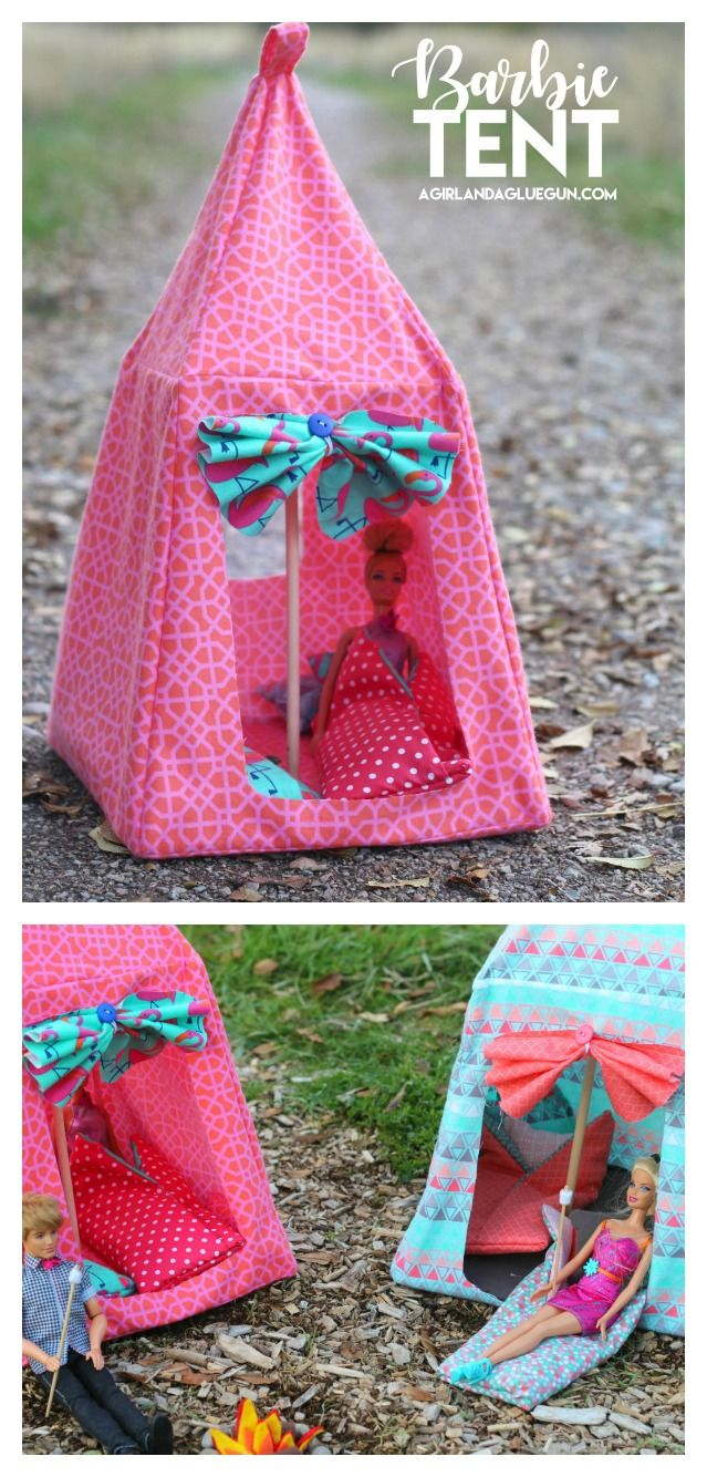 beautiful Barbie Tents Part - 6: barbie-tent-diy-super-cute-pattern