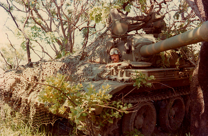 A Rhodesian T55 tank donated by South Africa. Military