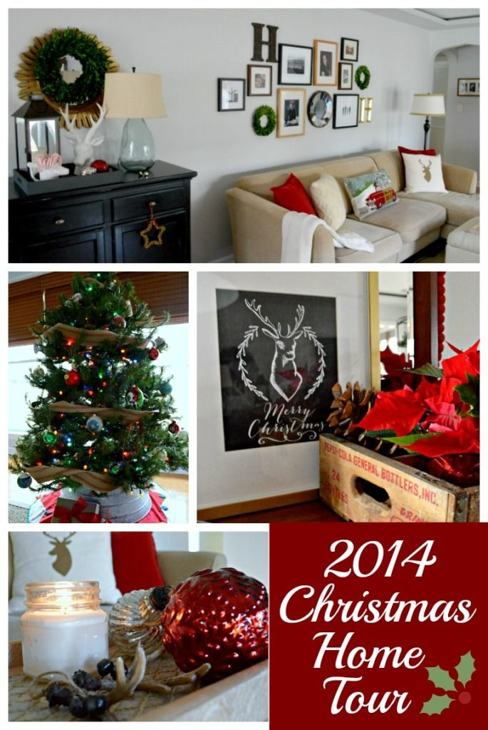decorating a small home for christmas simply with reds and greens and natural elements www - Decorating A Small Home For Christmas