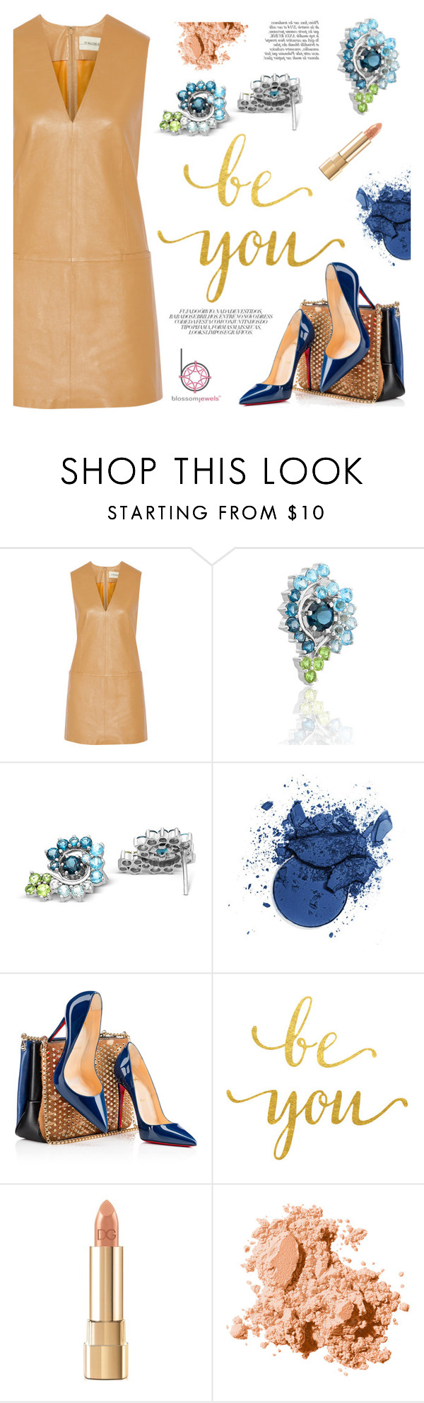 """""""Ombre effect"""" by blossom-jewels ❤ liked on Polyvore featuring By Malene Birger, Christian Louboutin, Dolce&Gabbana, Bobbi Brown Cosmetics and Anja"""