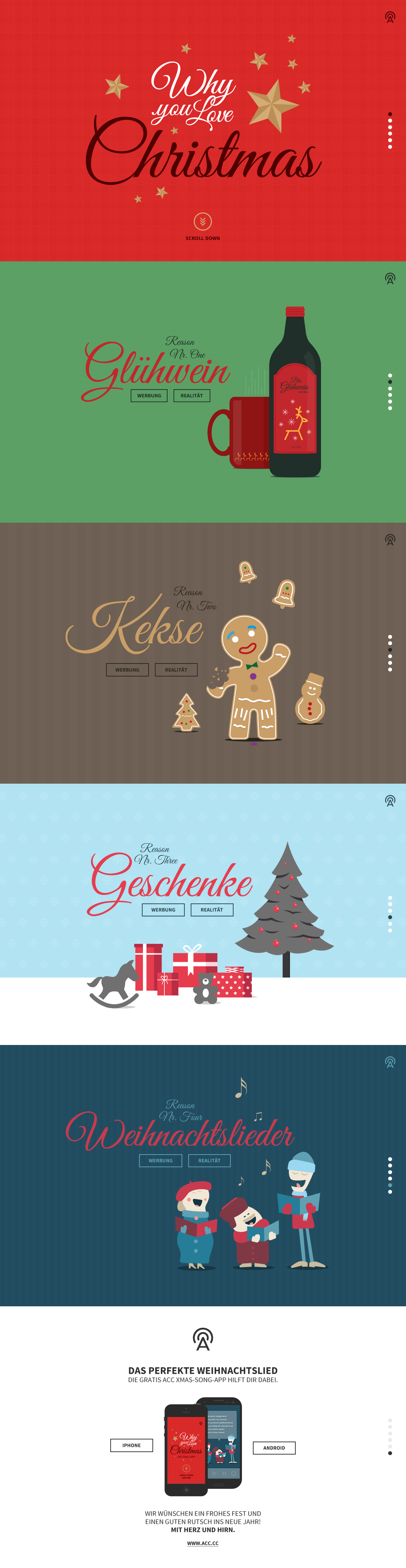Colorful one pager that shows us why we love/hate Christmas through ...