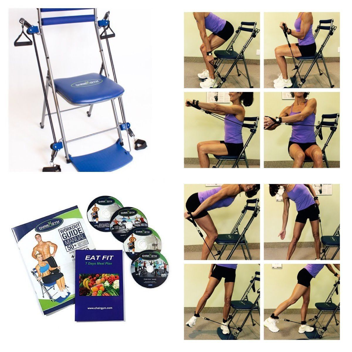 Multi Use Home Gym Exercise Chair Low Impact Total Body Resistance Workout New Ebay In 2020 Gym Workouts Chair Exercises Home Gym Exercises