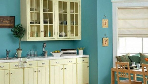 terrific blue yellow kitchen decor | Kitchen Blue And Yellow Kitchen Blue Kitchen Ideas With ...