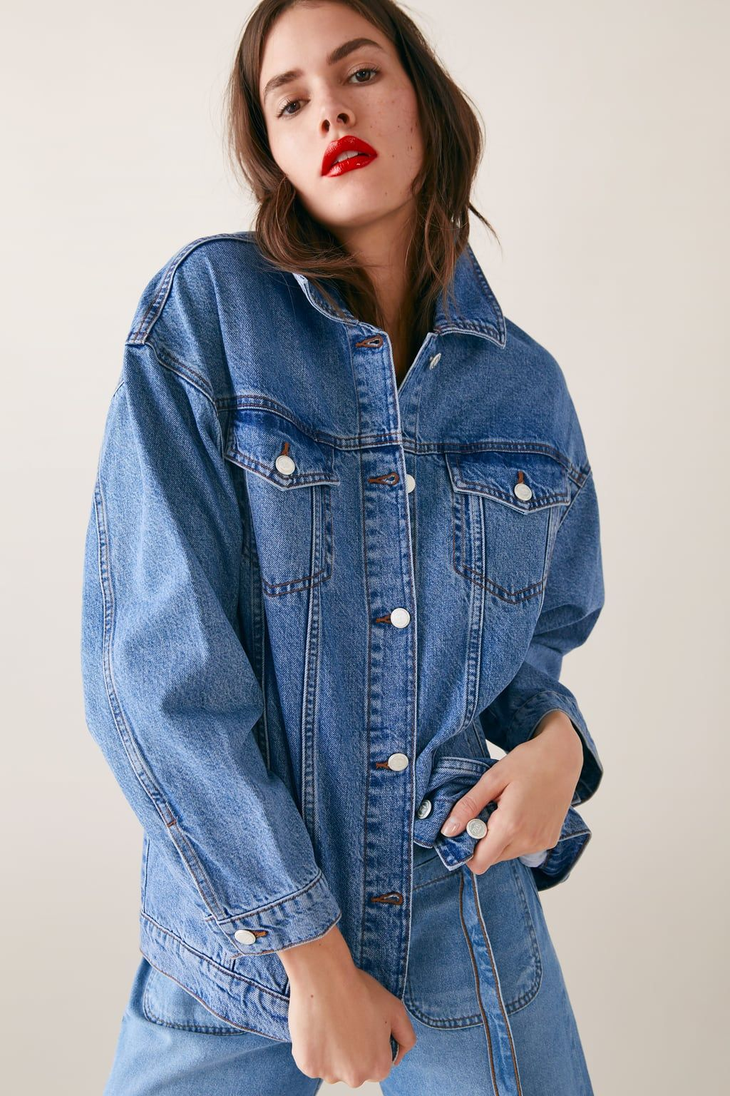 Oversized Denim Jacket Jackets Woman Zara United Kingdom Jean Jacket Outfits Denim Jacket Oversized Denim Jacket [ 1536 x 1024 Pixel ]