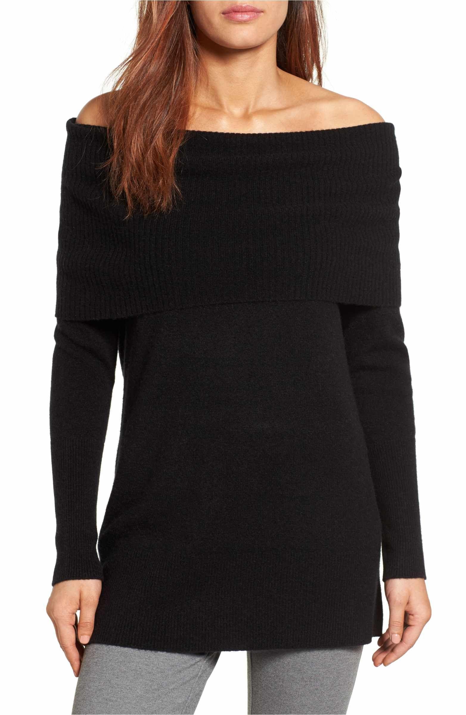 719083d5f7 Main Image - Halogen® Cashmere Off the Shoulder Sweater (Regular   Petite)