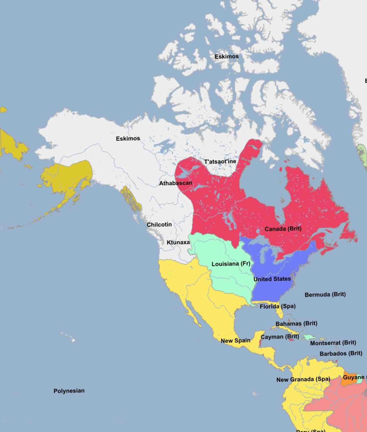 Western North America Map.The Western European S Power Struggle North America 1803
