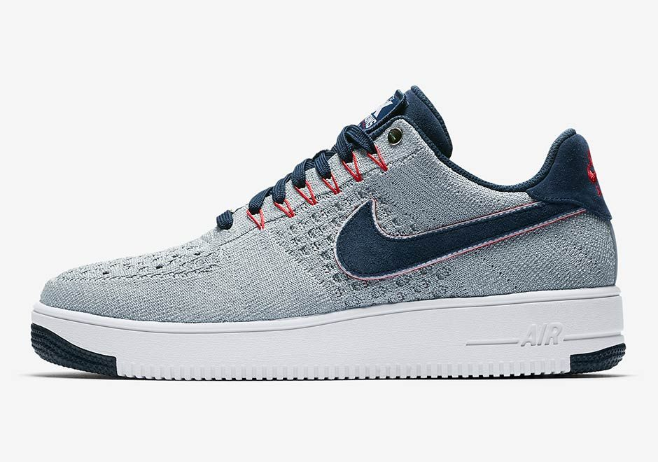 b05548aaf4264 NIKE COMMEMORATES NEW ENGLAND PATRIOTS 5 SUPERBOWL RINGS WITH AIR FORCE 1  FLYKNIT - Check out this awesome Premium Sneakers on The Notice Centre