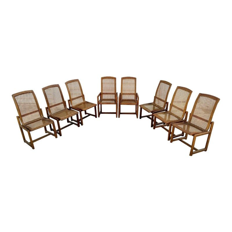 Drexel Heritage Walnut Caned Dining