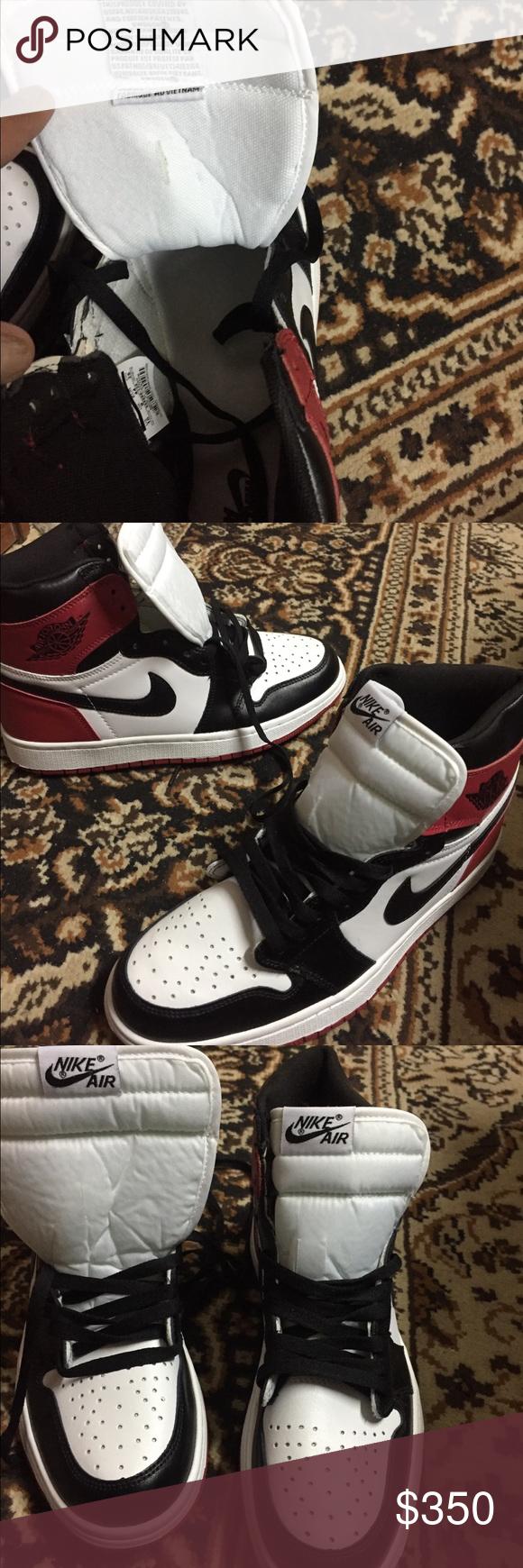 more photos 9f550 8df15 Air Jordan 1 retro high og black toe 2016 release 2016 Air Jordan 1 retro  high og black toe 555088 125 original featuring original  Nike Air   branding on ...