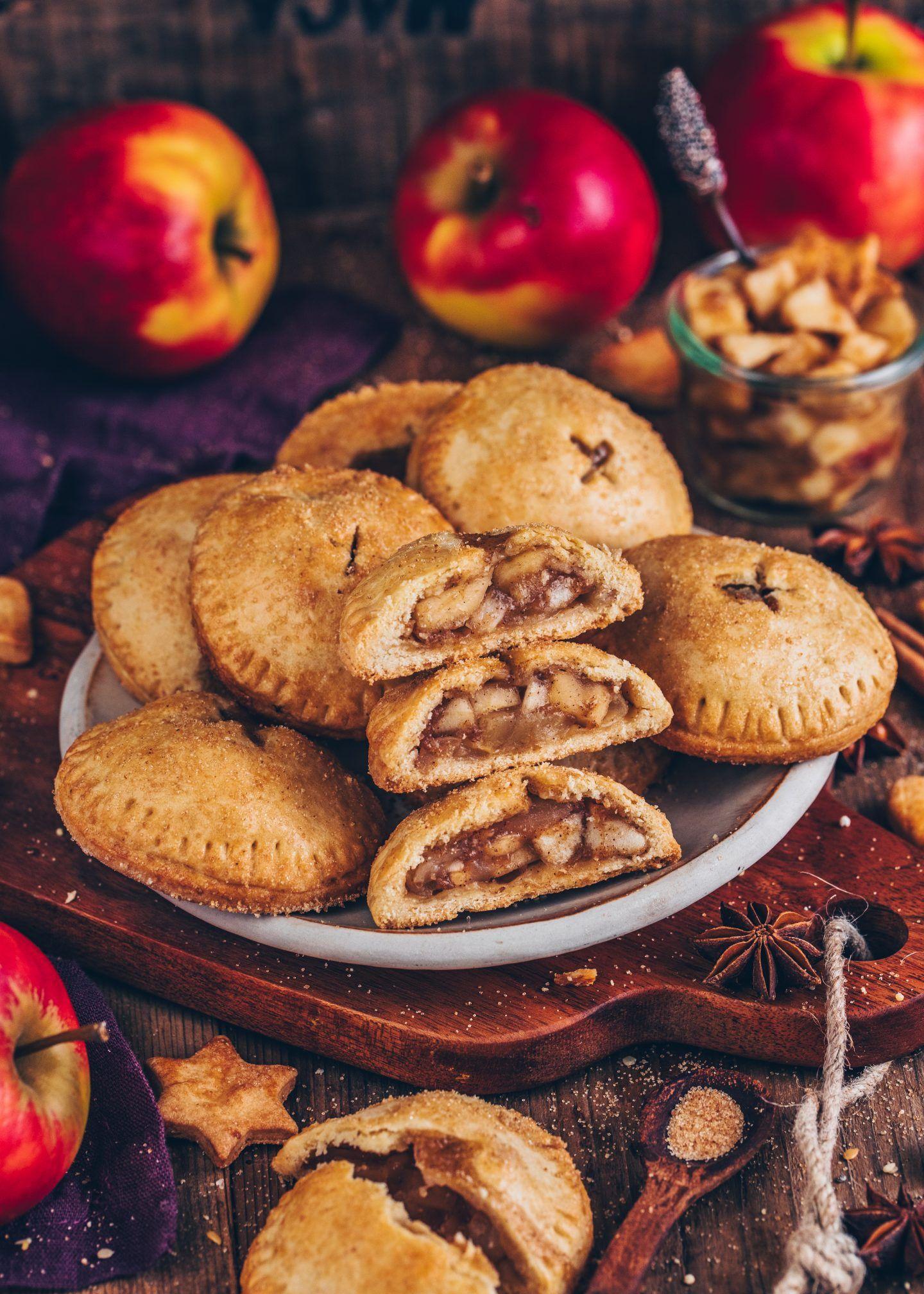 Apfel Hand Pies (vegane Mini-Apfelkuchen) - Bianca Zapatka | Rezepte #easypierecipes