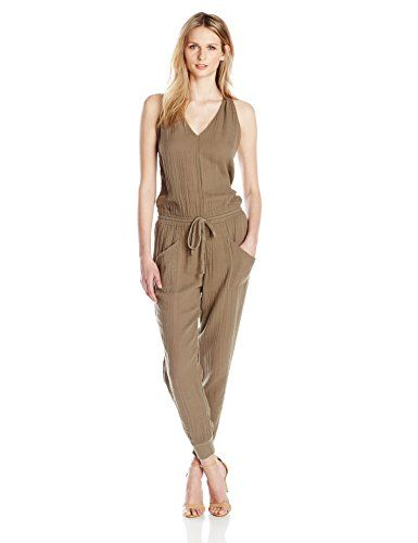 761b17e05d18 Michael Stars Women s Twisted Strap Jumpsuit with Pockets