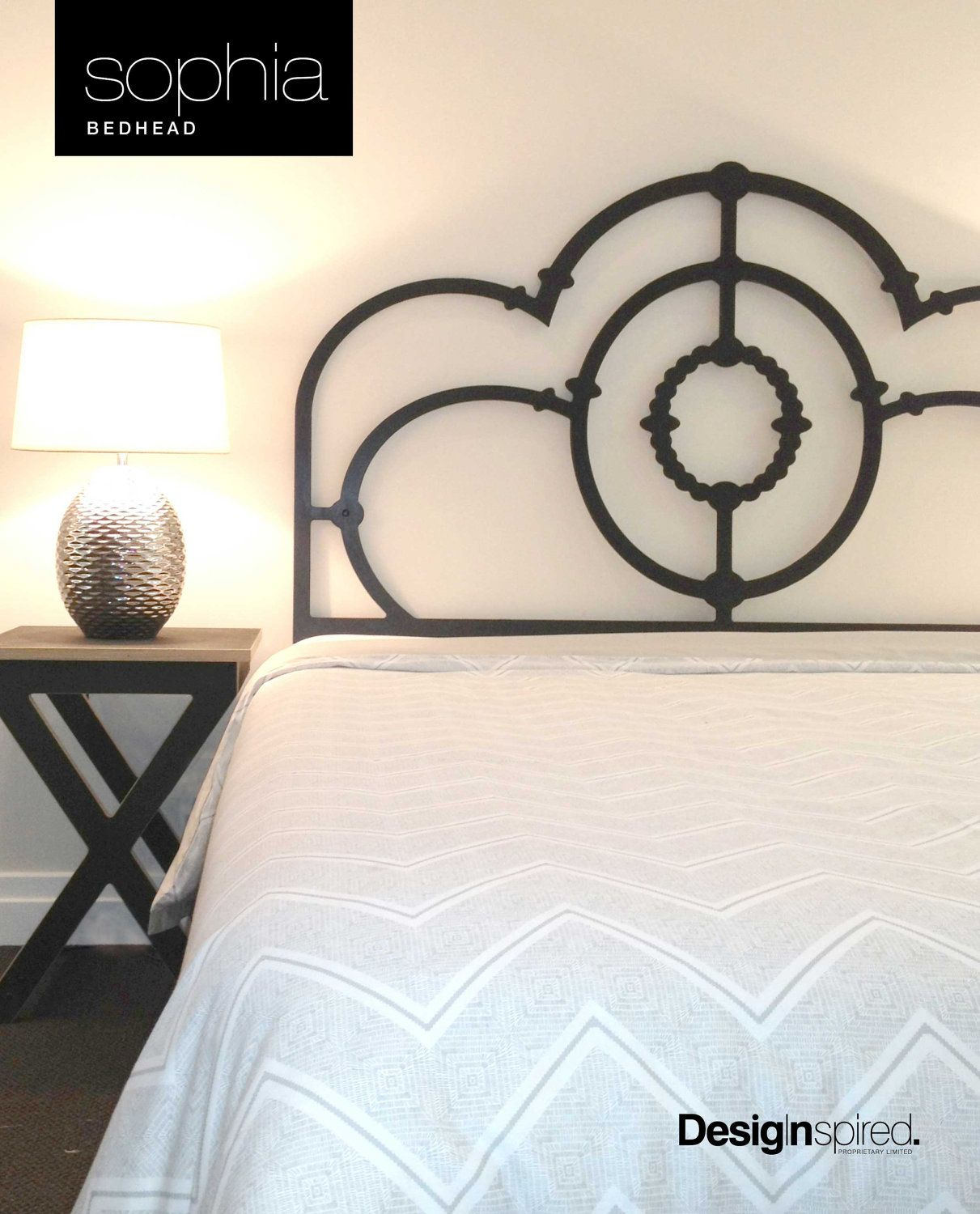 Sophia Wrought Iron Inspired Timber Bedhead Headboard