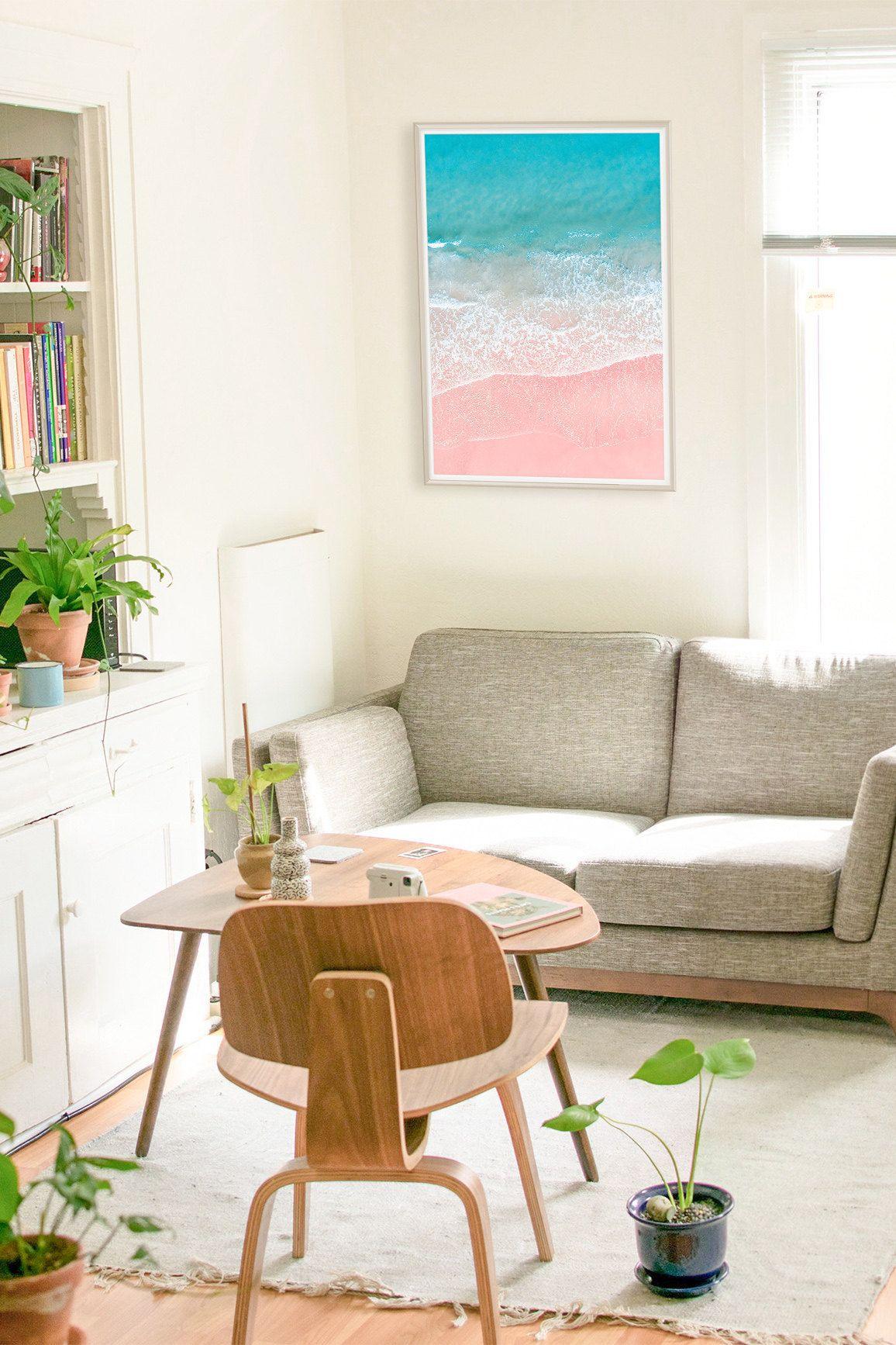 Pink And Blue Beach Decor Coastal Wall Art Beach Decor Bedroom