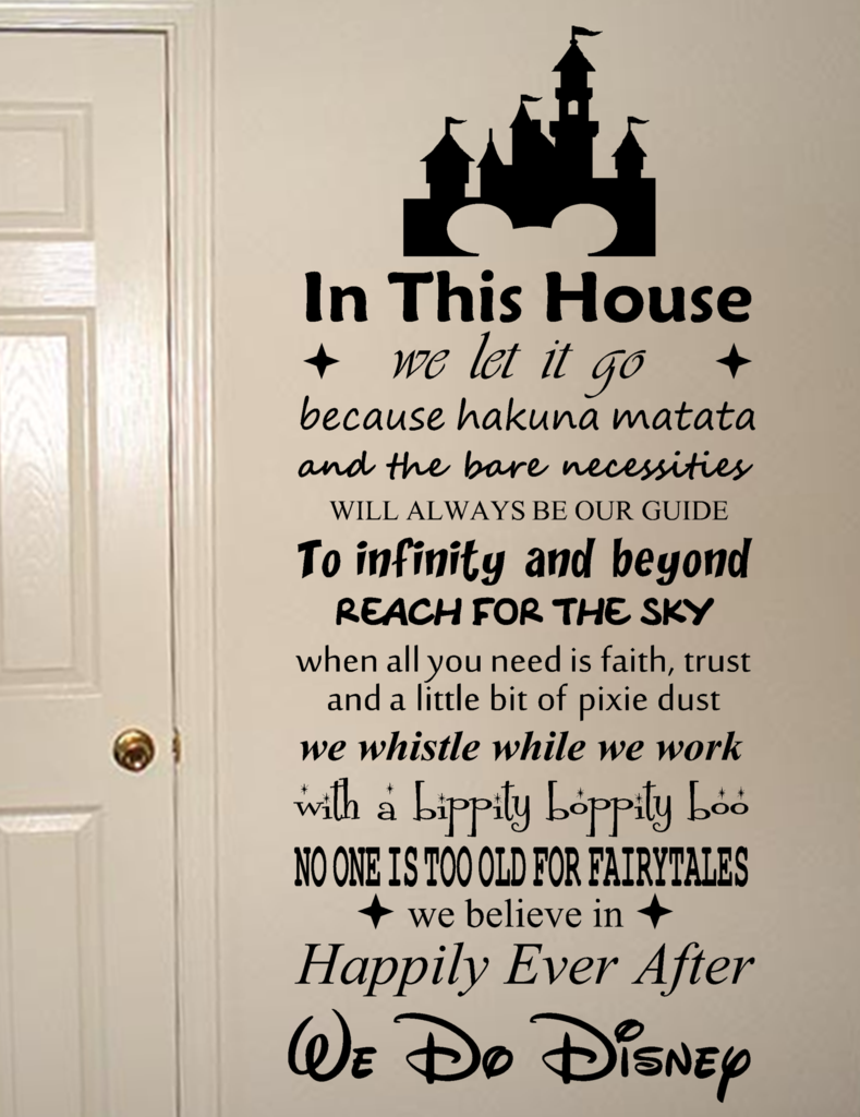 We Do Disney Vinyl Wall Art Quote Decal Sticker Sign Art I Want - Somewhat about wall stickers