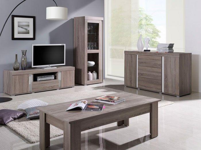 Mesa de salón modelo Álvarez, color madera roble claro ...