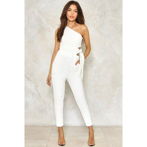 da9708b33a50 Nasty Gal Safe Side One Shoulder Jumpsuit ( 70) ❤ liked on Polyvore  featuring jumpsuits