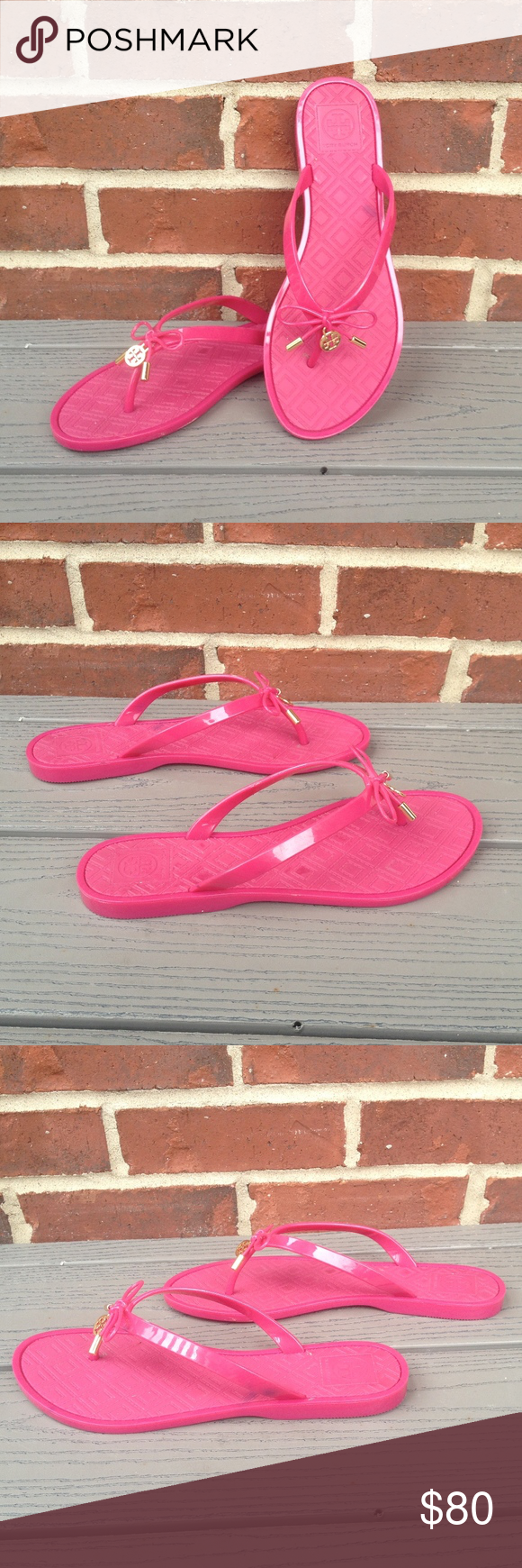 1dd21003a98e Tory Burch Jelly Bow Logo Charm Thong Sandal Colorful Tory Burch rubber jelly  thong sandal in