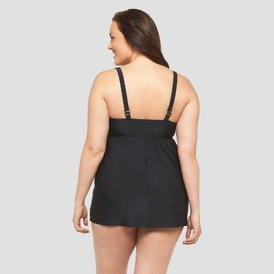 Women's Plus Size Swimdress - Ava & Viv - Black 16W