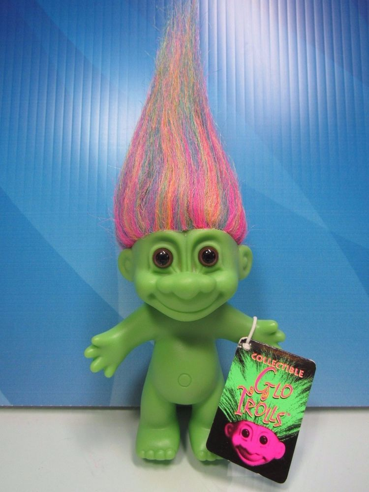 "Russ Troll Doll Orange HAIR NAKED TROLL 5/"" NEW IN ORIGINAL WRAPPER Vintage Retro"