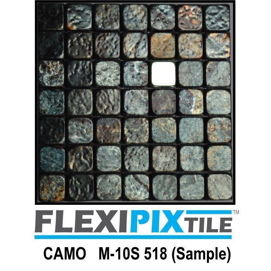 Sample- FLEXIPIXTILE -Peel & Stick Kitchen Backsplash Bath Accent ...