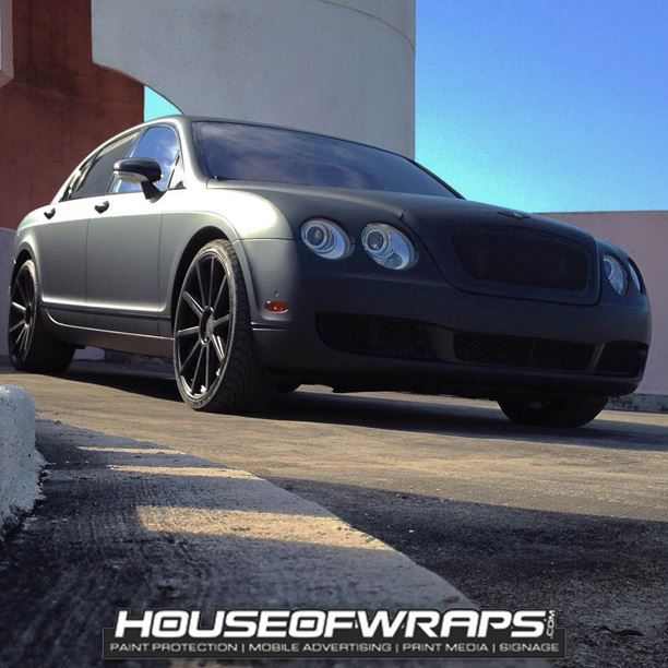 Classy wrap installed by House of Wraps. Material used: 3M 1080 Matte Deep Black. www.houseofwraps.com