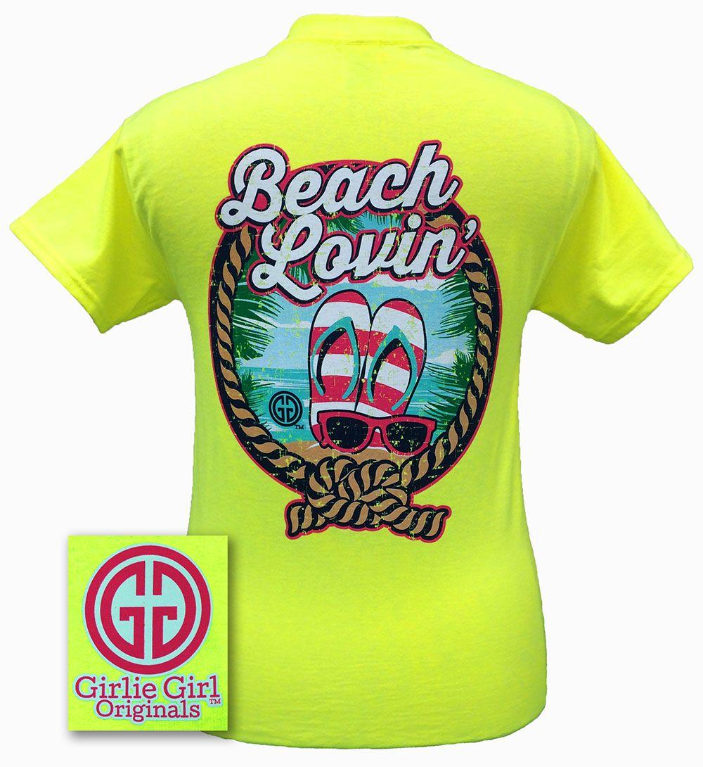 Beach Lovin Safety Green Short Sleeve