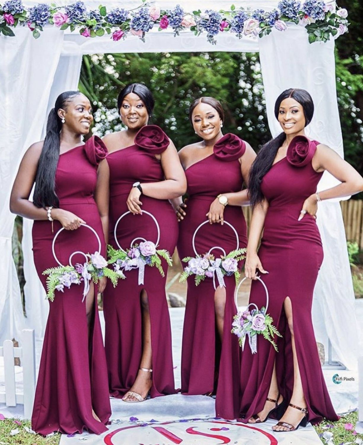 Pin By D On The Proposal Engagement Wedding Day In 2020 Stylish Wedding Dresses African Bridesmaid Dresses Nigerian Bridesmaid Dresses